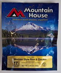 Mountain House Food Outdoor World Sporting Goods Mexican Style Chicken And Rice