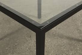 40 Inch Table Ina Matte Black 40 Inch Square Dining Table W Clear Glass Living