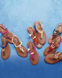 michael michael kors plate thong sandal in red lyst