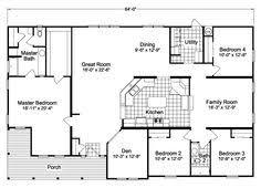 5 Bedroom Mobile Homes Floor Plans Quadruple Wide Mobile Home Floor Plans 5 Bedroom 3 Bathrooms
