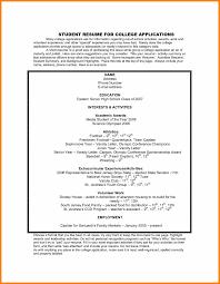 resume format for college application 10 college application resume exles cv patterns