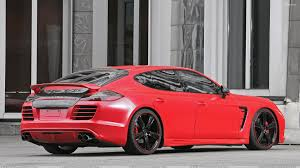 porsche back porsche panamera anderson germany side back pose in red wallpaper