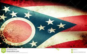 Ohios State Flag Ohio State Flag Waving Grunge Look Stock Video Video 60600721