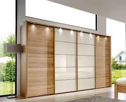 Schlafzimmerschrank Beleuchtung 4 Tlg Schlafzimmer Eiche Teilmassiv Glas Magnolie Kleiderschrank