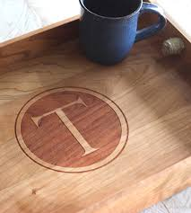 monogrammed serving trays custom monogram wood serving tray home kitchen pantry