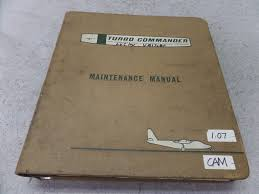 turbo aero commander model 680w maintenance manual and other used