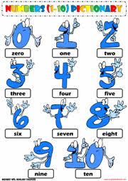 numbers esl printable worksheets and exercises