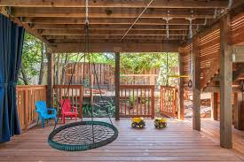 under deck ideas patio contemporary with white pillows outdoor