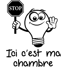 c ma chambre sticker citation ici c est ma chambre stickers citations français
