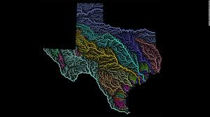 Texas Rivers Map River Maps Become Colorful Pieces Of Art Cnn Travel