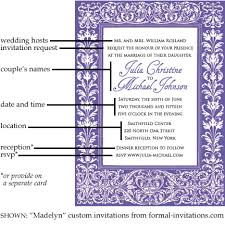 formal invitations wedding invitation wording and etiquette formal invitations
