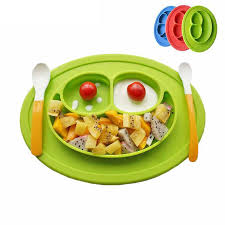silicone cuisine silicone feeding food plate tray dishes food holder for baby babylik