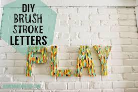 diy brush stroke letters homemade ginger