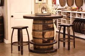 whiskey barrel bar table goodtimber furnishings handcrafted home furnishings made and sold