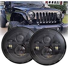 led lights for jeep wrangler amazon com lx light extreme bright 105w silver 7inch round led