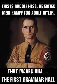 Nazi Meme - first grammar nazi beheading boredom