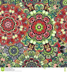 mandalas wallpaper seamless oriental design stock vector image
