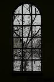 snow covered tree out a window by nesatauri on deviantart