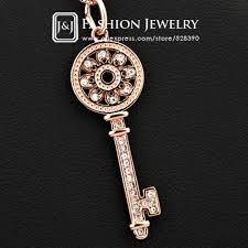 vintage key pendant necklace images Fashion women 39 s pendant necklace 18kgp gold plated crystal jpg