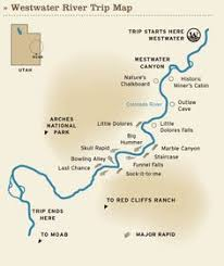 colorado river map westwater rafting trip colorado river map moab ut