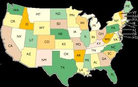 us state abbreviations map united states two letter abbreviation map