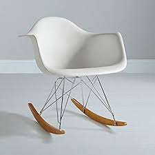 Eames Inspired Rocking Chair Charles Eames Rar Plastic Rocking Chair White Amazon Co Uk