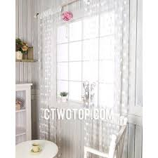 Patterned Sheer Curtains Half Price Clearance White Patterned Sheer Curtains