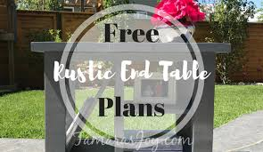 diy rustic side table with free plans tamara u0027s joy