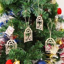 online shop jetting wooden deer snowman christmas tree decorations
