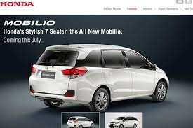honda car 7 seater honda launches 7 seater mobilio at rs6 49 lakh livemint