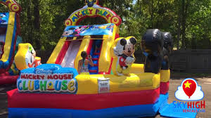 party rentals houston mickey toddler water slide with pool sky high party rentals