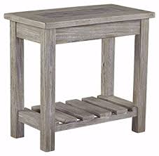 hardwood 10 inch chairside end table amazon com signature design by ashley t748 7 veldar chairside end