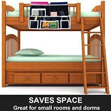Bed Rails For Bunk Beds Fancii 10 Pocket Bedside Caddy Hanging Storage Organizer For Books