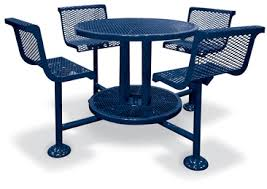 Unique Commercial Metal Outdoor Furniture In White Round - Heavy patio furniture