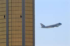 air force one flying past mandalay bay after trump visits las