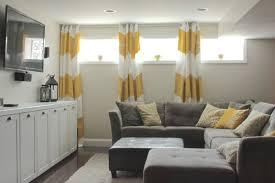 nice ideas small basement window curtains brainy for basements ideas
