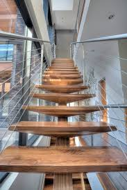 center beam stair staircase modern with