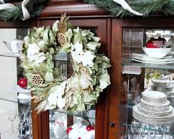 transitional christmas decor woods of bell trees decoration fall decorated china hutch for christmasmy uncommon slice of suburbia so the decorations came down and i home