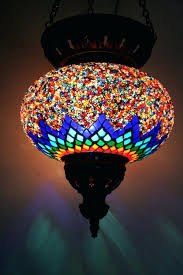 moroccan mosaic lamp turkish moroccan hanging glass mosaic lamp