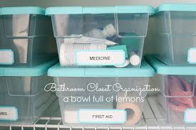 Bathroom Closet Organization Bathrooms A Bowl Full Of Lemons