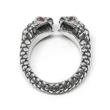 mens double rings images Men 39 s snake rings jpg