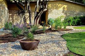 exterior modern backyard lanscaping design pergola and stone