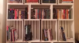 Crate Bookcase Storage Made Simple Diy Wooden Crate Bookshelf Apartmentguide Com