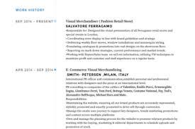Fashion Merchandising Resume Sample by Visual Merchandiser Resume Sample Reentrycorps