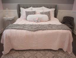 about pink and grey bedroom for the girls with paw light