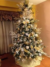 tree gold silver white arbol de navidad en dorado