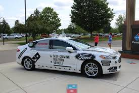 ford domino u0027s takes high tech pizza delivery to level 4 with ford