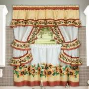 Sunflower Valance Kitchen Curtains by Swags Tier Curtains