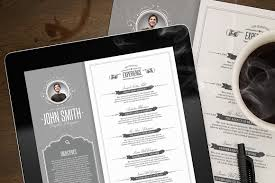 Resume Sample Using Html by Retro Resume Template Resume Templates Creative Market
