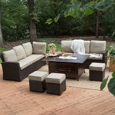 Patio Furniture Sets With Fire Pit by Red Ember Longmont 50 X 38 In Rectangle Gas Fire Pit Hayneedle